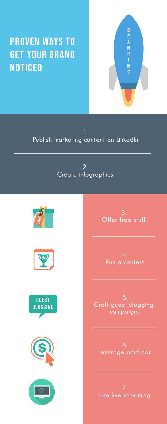 Proven ways to get your brand noticed- Infographic