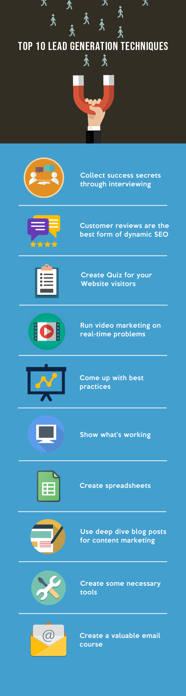 Lead Generation Techniques to Growth Hack Your Business infographic
